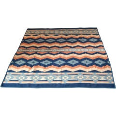 20TH C. BEACON CAMP  BLANKET/INDIAN DESIGN PATTERN