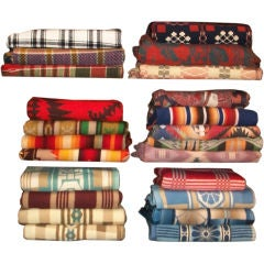 LARGE COLLECTION OF BEACON/PENDLETON BLANKETS & COVERLETS