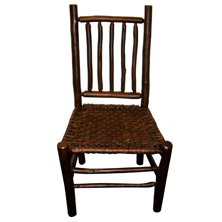 1920 S Old Hickory Side Chair W Woven Splint Seat At 1stdibs