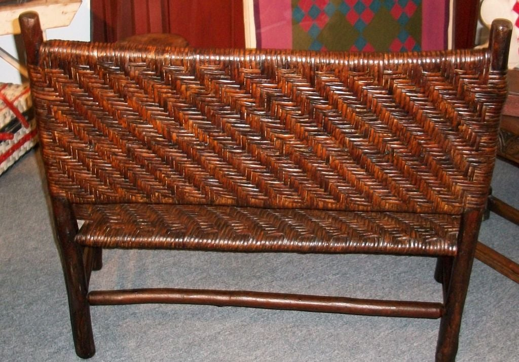 Old Hickory Settee From Martinsville Indiana All Original