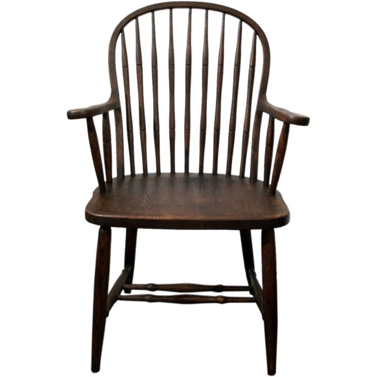 19TH C NINE SPINDLE BACK WINDSOR CHAIR IN NATURAL STAIN  : 10005451 from www.1stdibs.com size 768 x 768 jpeg 46kB