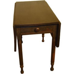19th Century Original Surface Drop-Leaf Table with Drawer
