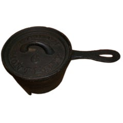 19th C. Iron Cooking Pot with Lid