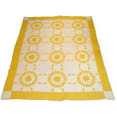 MATCHING PAIR OF TOUCHING STAR QUILTS