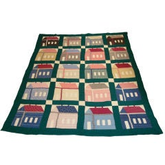 Early 20th Century Folky School House Quilt