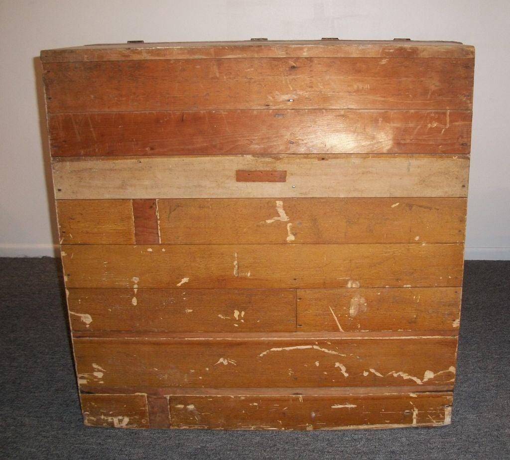 19THC FEED BIN IN ORIGINAL TAUPE PAINT FROM NEW ENGLAND at ...