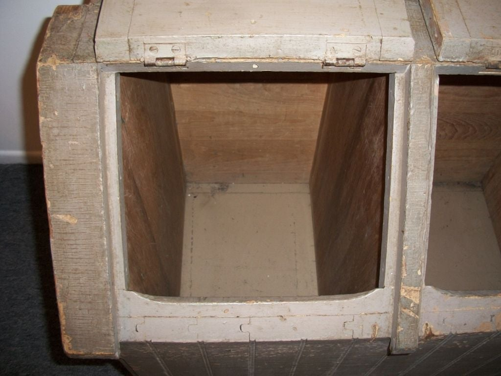 19thc Feed Bin In Original Taupe Paint From New England At
