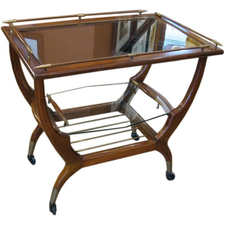americano funcional mid century modern mesita trago bar cart at 1stdibs. Black Bedroom Furniture Sets. Home Design Ideas