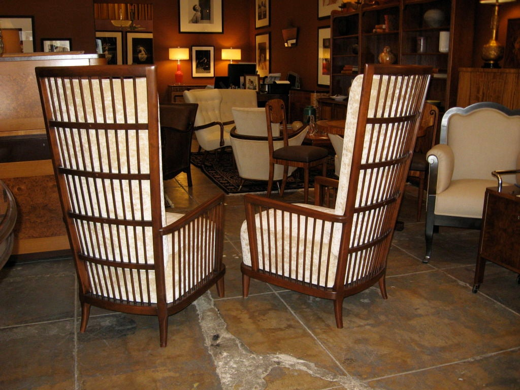 """Pair of Argentine Moderne Era """"Sillon Jaula"""" Cage Chairs ca.1940 image 2"""