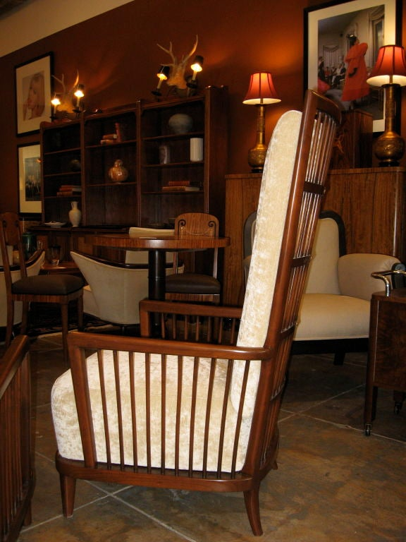 """Pair of Argentine Moderne Era """"Sillon Jaula"""" Cage Chairs ca.1940 image 3"""