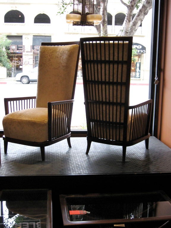 """Pair of Argentine Moderne Era """"Sillon Jaula"""" Cage Chairs ca.1940 image 9"""