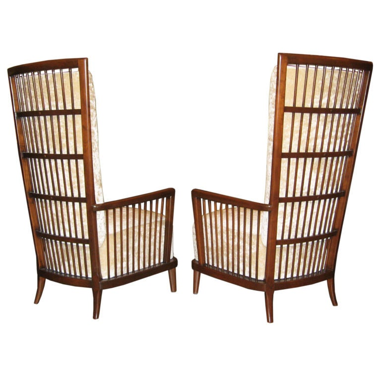 """Pair of Argentine Moderne Era """"Sillon Jaula"""" Cage Chairs ca.1940"""