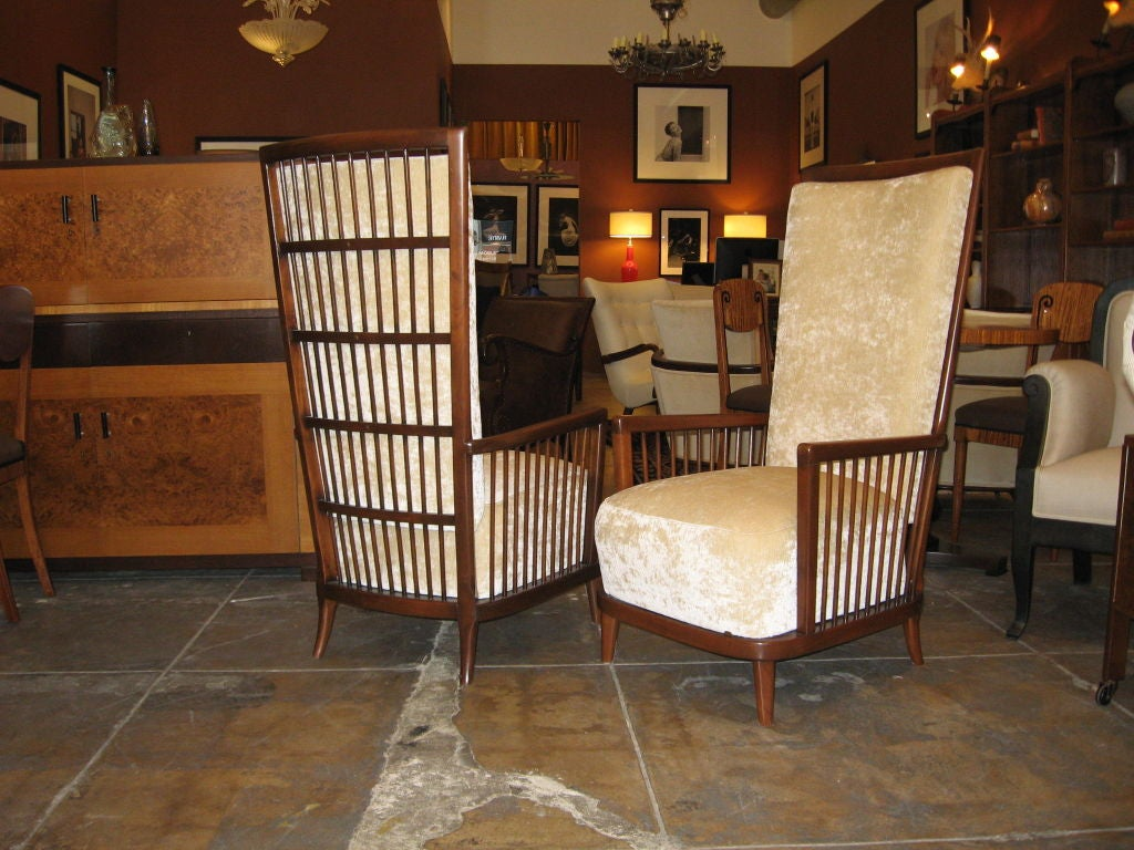 """Pair of Argentine Moderne Era """"Sillon Jaula"""" Cage Chairs ca.1940 image 6"""