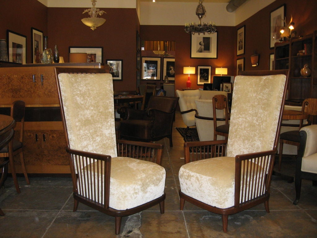 """Pair of Argentine Moderne Era """"Sillon Jaula"""" Cage Chairs ca.1940 image 7"""