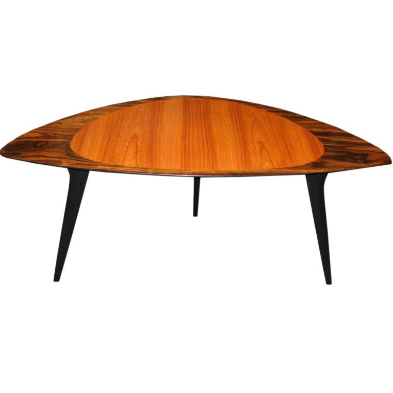 Yin And Yang Mid Century Modern Round Walnut Swedish: Swedish Mid-Century Modern Side/Coffee Table In Elm And