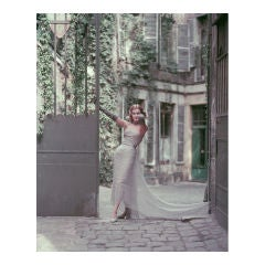 """Couture in Paris Courtyard #2"" Fashion Photo by Mark Shaw 1955"
