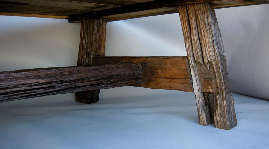 this large reclaimed wood dining table is no longer available
