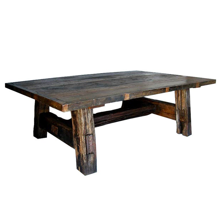 large reclaimed wood dining table at 1stdibs