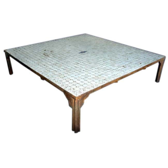 Moroccan tiled coffee table at 1stdibs Moroccan coffee tables
