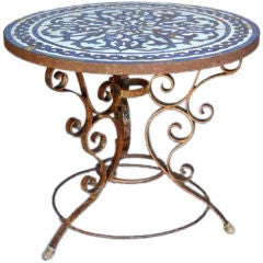 19th Century Spanish Tile Top Table