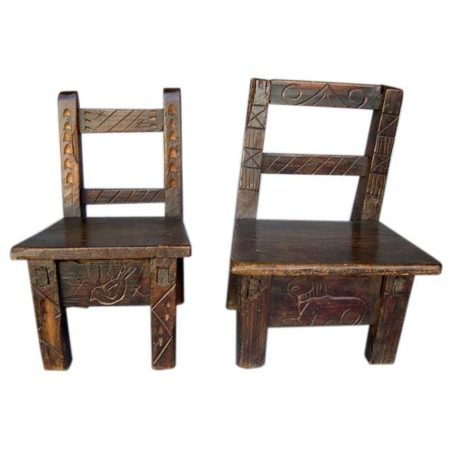 Carved children s chairs at 1stdibs