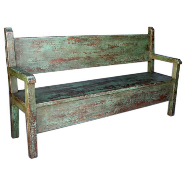 Painted Bench For Sale At 1stdibs