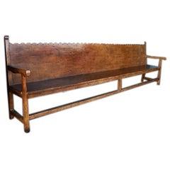Scalloped Back Bench