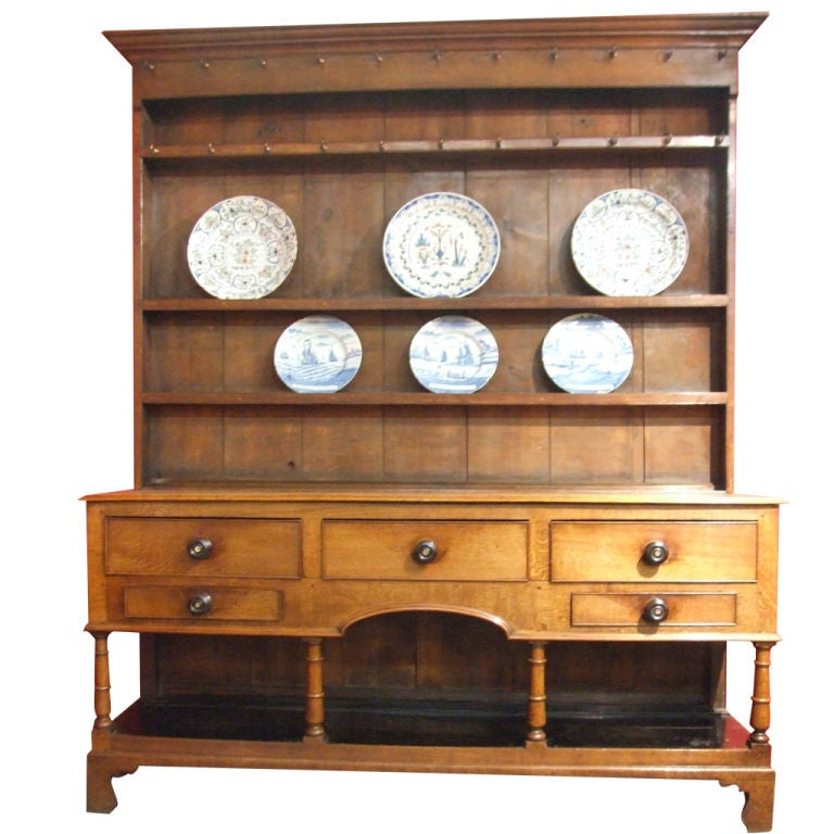 Early 19th Century Welsh Dresser. 18th Century English Oak Welsh Dresser For Sale at 1stdibs