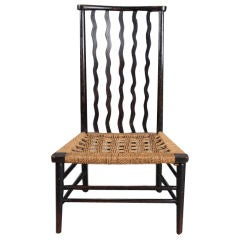 Arts and Crafts Ebonized Fireside Chair