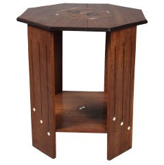 Indian Art Deco Octagonal Side Table