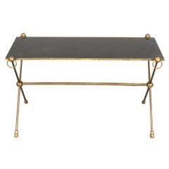 Jansen Bronze, Glass-Top Coffee Table in the Neoclassical Manner
