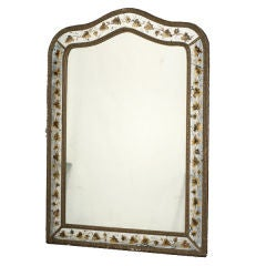 Jansen Eglomise Mirror with Arched Top
