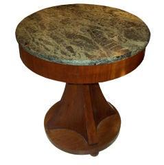 Biedermeier-Style Marble-Top Gueridon Table