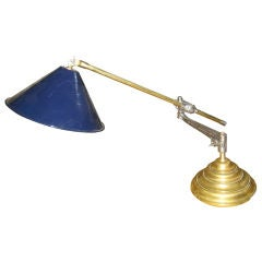Wonderful  Early 20th Century Industrial Desk Lamp by OC White