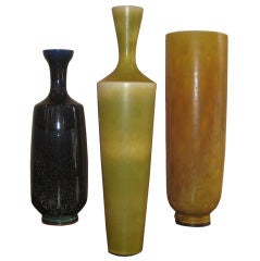Three Large Berndt Friberg Vases