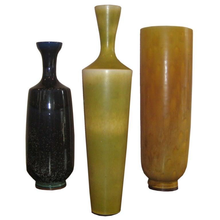 Three Large Berndt Friberg Vases