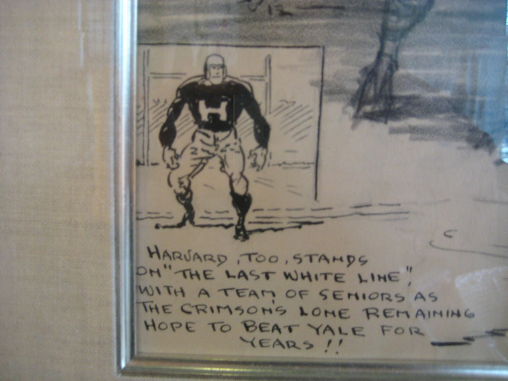 American 1912 Columbia University Football Illustration by Burris Jenkins For Sale