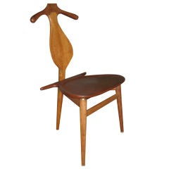 Early Hans Wegner Valet Chair in Teak and Oak