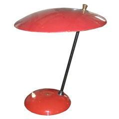 Stilnovo Enamel Metal and BrassTable Lamp