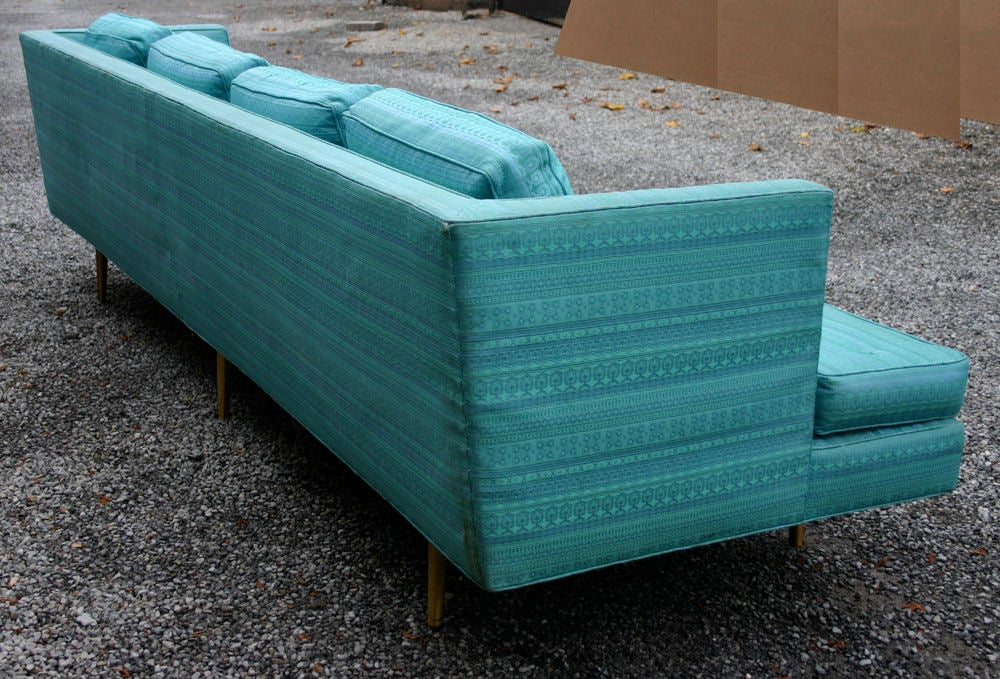 Pair Edward Wormley 9ft Sofas For Sale 1