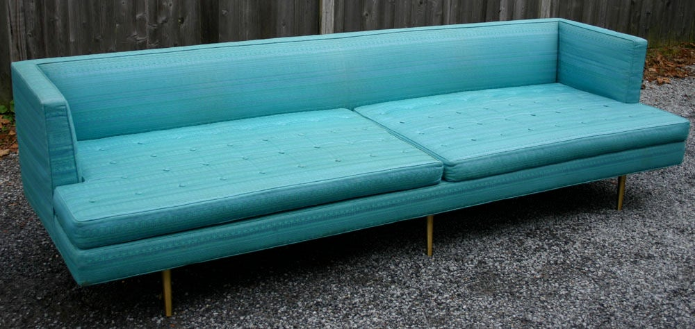 Pair Edward Wormley 9ft Sofas For Sale 2