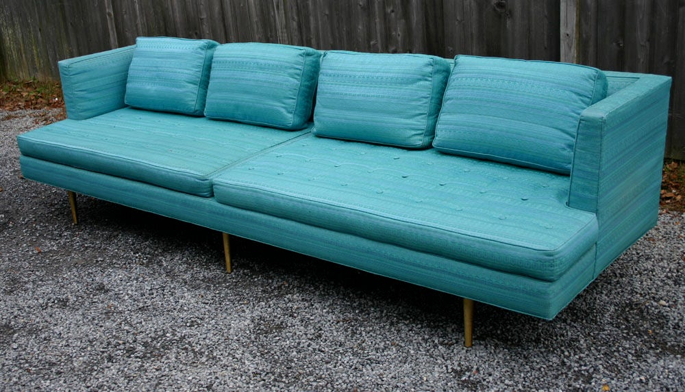 Mid-20th Century Pair Edward Wormley 9ft Sofas For Sale