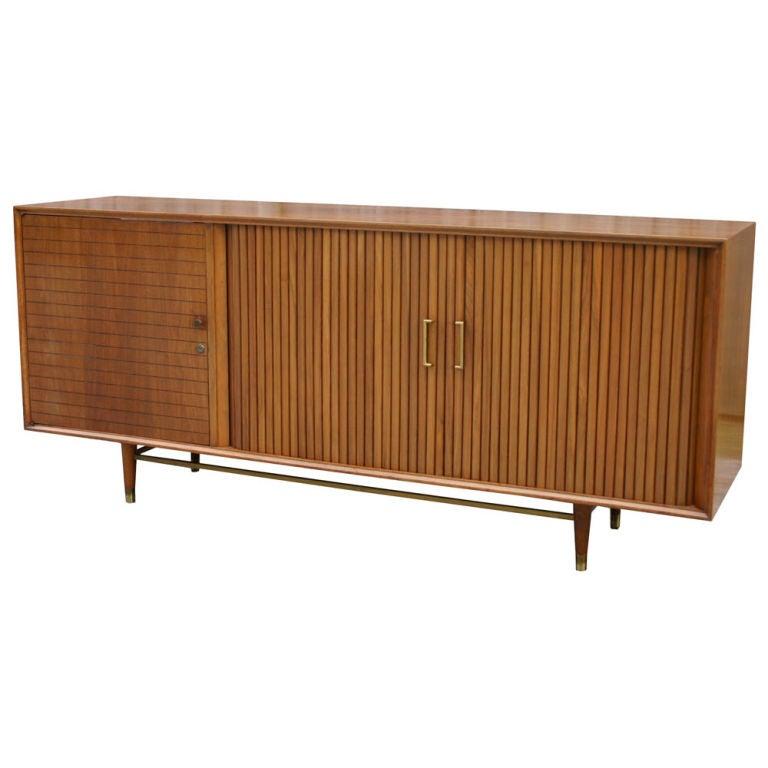 Walnut Stereo Cabinet At 1stdibs