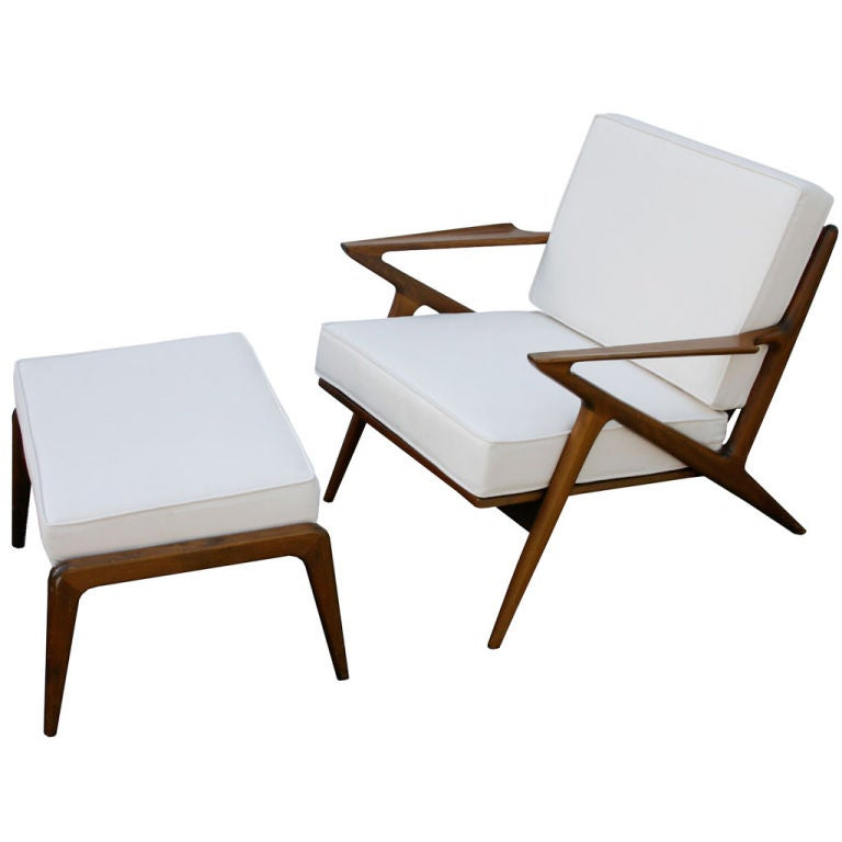 Poul jensen z chair and ottoman at 1stdibs - Selig z chair reproduction ...