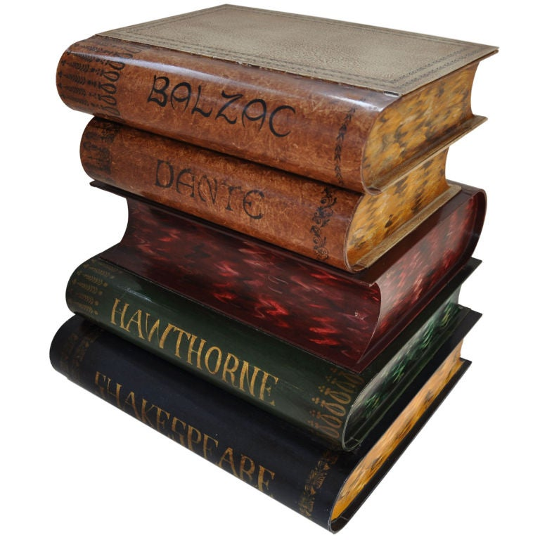 Book Furniture: Stack Of Books Occasional Table