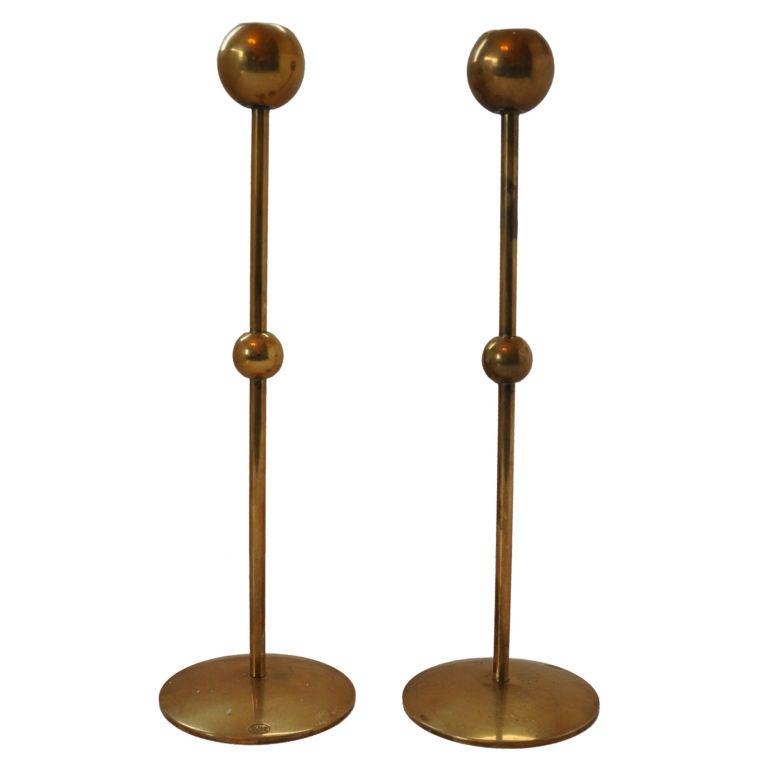 Brass Candlesticks - Lotta Horn