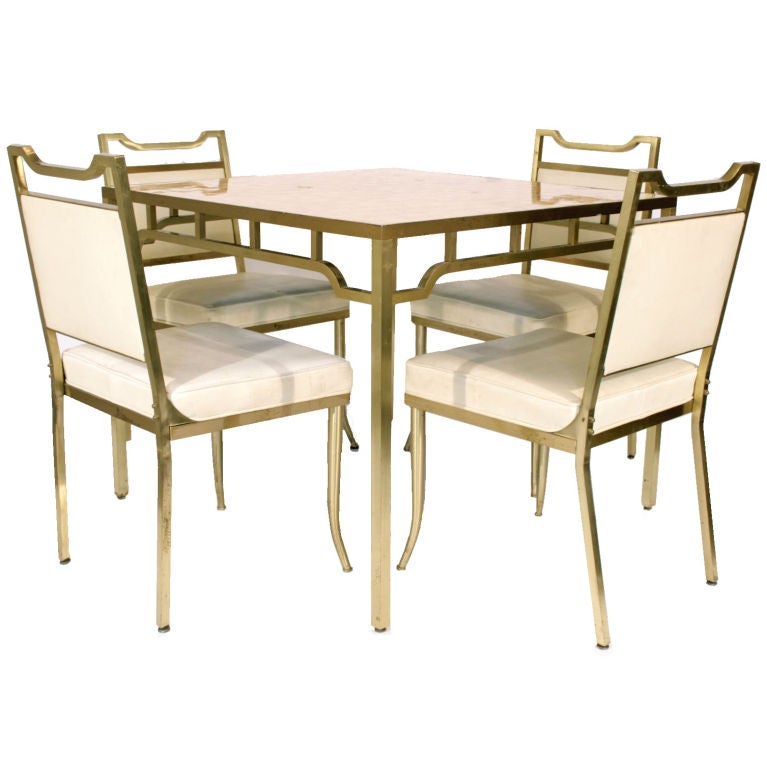 "Table and Chair Set by William ""Billy"" Haines For Sale"
