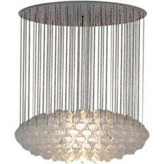 Monumental Crystal Bulb Chandelier by Julius August Kalmar