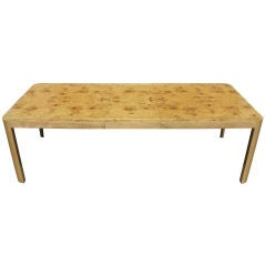 Burlwood Maple Dining Table by Vladamir Kagan designers :	Vladim