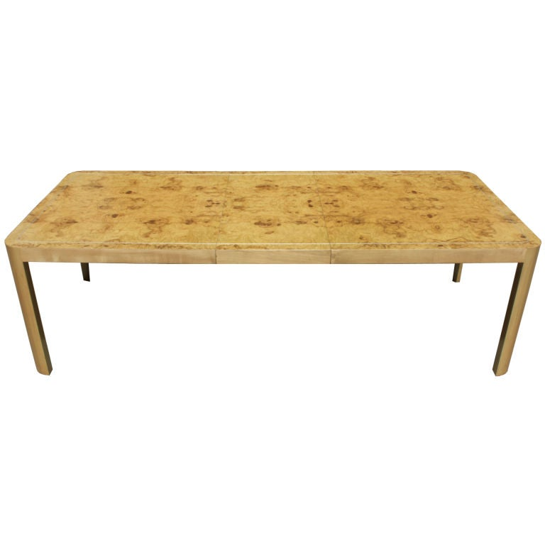 Burlwood maple dining table by vladamir kagan designers for Maple dining table